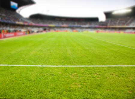 soccer goal: stadium arena soccer field defocused background