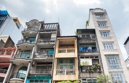 buildings in Saigon, Vietnam Stock Photo