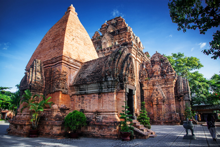 archaeologies: the towers of Po Nagar near Nha Trang in Vietnam. Towers were built by the Cham civilization