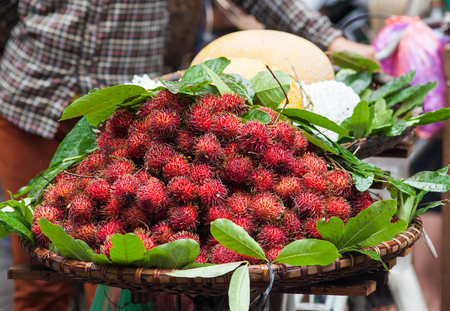 fresh fruit on the market in Vietnam Stock Photo