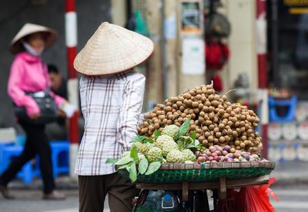 street vendors selling their goods in Hanoi, Vietnam Stock Photo