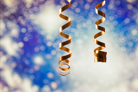 ribbons and holiday lights - new year celebrations