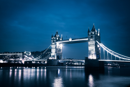 tower Bridge by night, London, UK Stock Photo