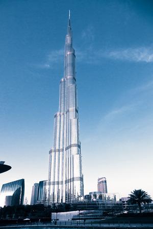 DUBAI, UAE - FEBRUARY 2018: Burj Khalifa, worlds tallest tower, Downtown Burj Dubai.