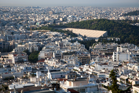 view over Athens from Lycabettus hill