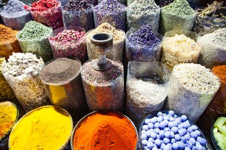 arabic Spices at the market Souk Madinat Jumeirah in Dubai, UAE