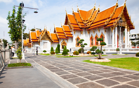 wat Benchamabopit, the Marble temple, Bangkok, Thailand Stock Photo - 120054836
