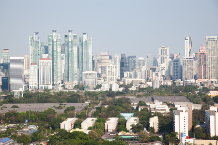 high buildings panorama downtown of Bangkok City Thailand Stock Photo - 120054858