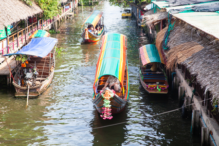 khlong lad mayom floating market, Bangkok, Thailand