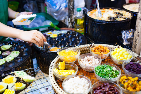colorful street food on the market Thailand