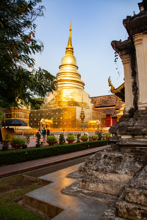 wat Phra Singh, Chiang Mai, Thailand Reklamní fotografie - 121339407