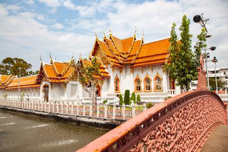 wat Benchamabopit, the Marble temple, Bangkok, Thailand Reklamní fotografie - 121339414