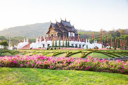 royal Flora Ratchaphruek Park, Chiang Mai, Thailand Reklamní fotografie - 121339438