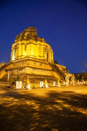 wat Chedi Luang Varavihara, Chiang Mai, Thailand Reklamní fotografie - 121339510