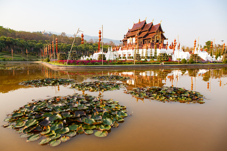 royal Flora Ratchaphruek Park, Chiang Mai, Thailand Reklamní fotografie - 121339536
