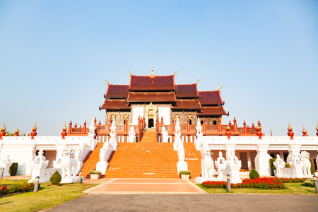 royal Flora Ratchaphruek Park, Chiang Mai, Thailand Reklamní fotografie - 121339916