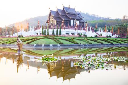 royal Flora Ratchaphruek Park, Chiang Mai, Thailand Reklamní fotografie - 121339976