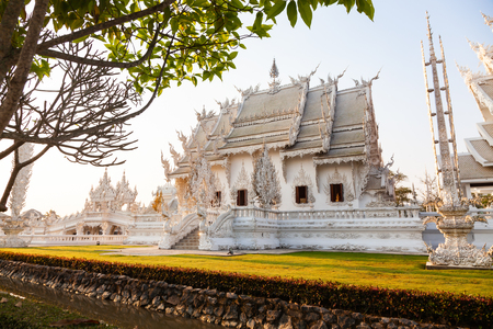 wat Rong Khun The famous White Temple in Chiang Rai, Thailand Reklamní fotografie