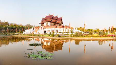 royal Flora Ratchaphruek Park, Chiang Mai, Thailand Reklamní fotografie - 121339994