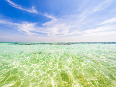 crystal clear tropical waters - holiday background