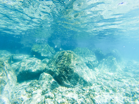 tropical blue ocean underwater background - luxury nature pattern 写真素材