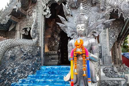 silver temple in Chiang Mai Editorial