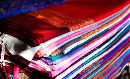 beautiful handmade fabrics of hill tribe people of Thailand
