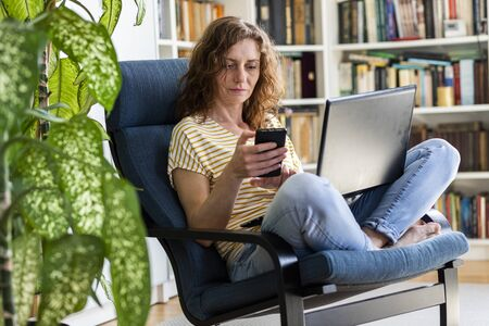 woman working remotely stay home and healthy coronavirus