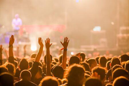 Crowd at concert Foto de archivo