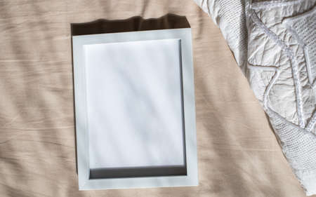 white portrait frame mockups, Scandinavian interior neutral color palette.