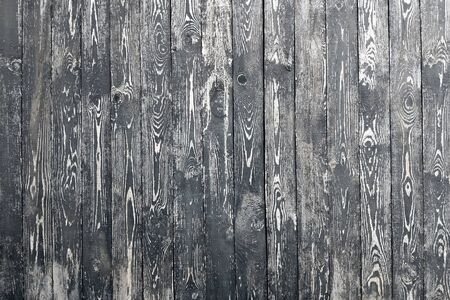 Old wooden wall in black colors. Background. Wood texture.