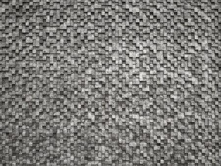 Decoration mosaic tile. Square pieces of wood. Background.