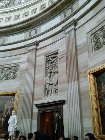 Wall inside the US Capitol 版權商用圖片