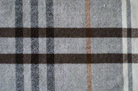 biege: grey biege and brown texture checkered knitted blanket