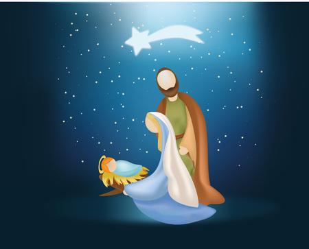 Boże Narodzenie urodziny ilustracja.