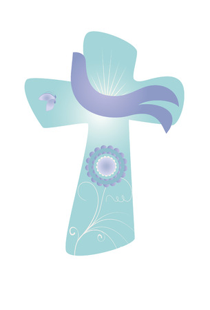 Cross with dove, Christian symbol