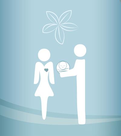Adoption concept vector illustration Illustration