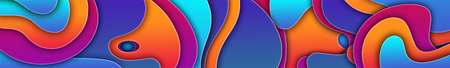 Abstract curvilinear high-colored background. Multicolored 3d illustration