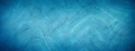 Elegant blue marbled texture horizontal empty background. Luxury antique card. Old blurred texture wallpaper. Website background. Vintage textured web banner header board. Water 版權商用圖片 - 135841113