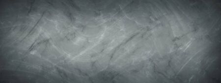 Elegant marbled black and gray empty horizontal background. Luxury antique card. Old blurred texture wallpaper. Background blackboard website. Vintage textured web banner header board. Waves 版權商用圖片