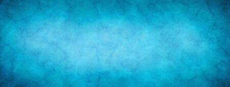 Elegant blue marbled texture horizontal empty background. Old blurred texture wallpaper. Luxury antique card. Website background. Vintage textured web banner header board. Copy space 版權商用圖片 - 135841145
