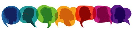 Dialogue group of diverse people. Иллюстрация