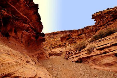 canyon trail Фото со стока