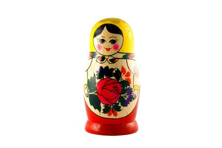 Russian doll isolated on white
