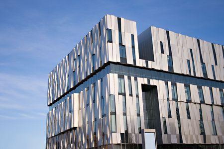 Modern building, The consert hall in Uppsala, sweden photo