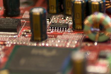 Close-up picture of Computer Circuit Board. Stock Photo - 2740583