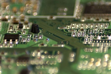 Close-up picture of Computer Circuit Board. Stock Photo - 2740587