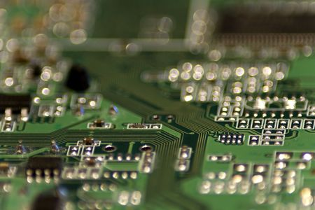 Close-up picture of Computer Circuit Board. Stock Photo - 2740586