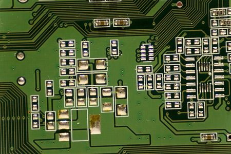 Close-up picture of Computer Circuit Board.