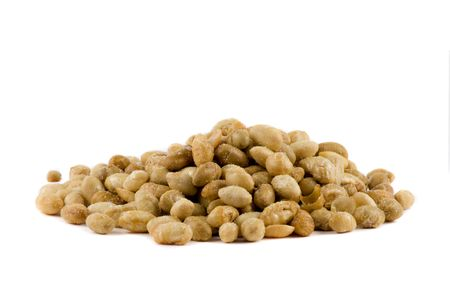 A pile of Soybeans isolated on white background
